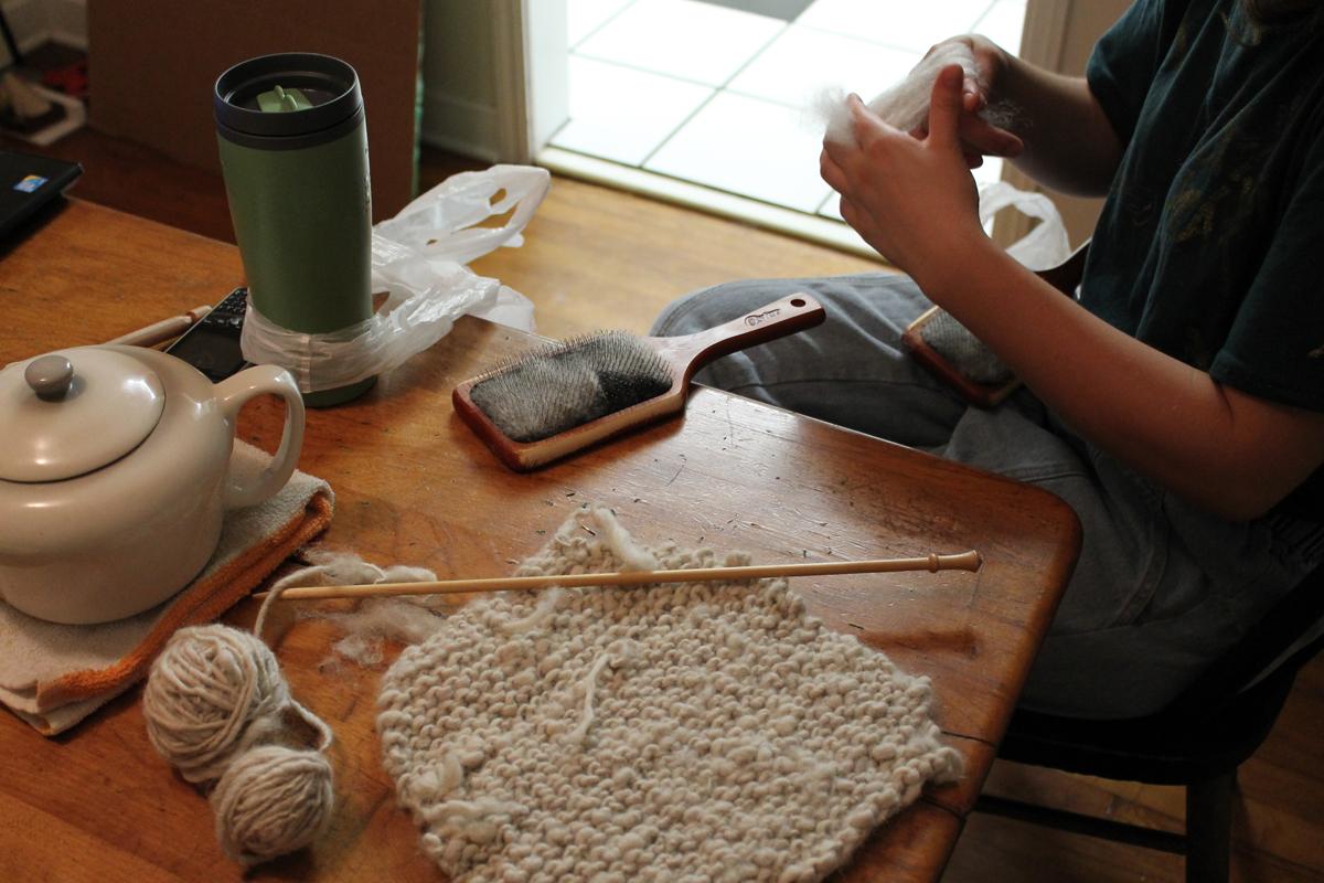 Helen carding wool
