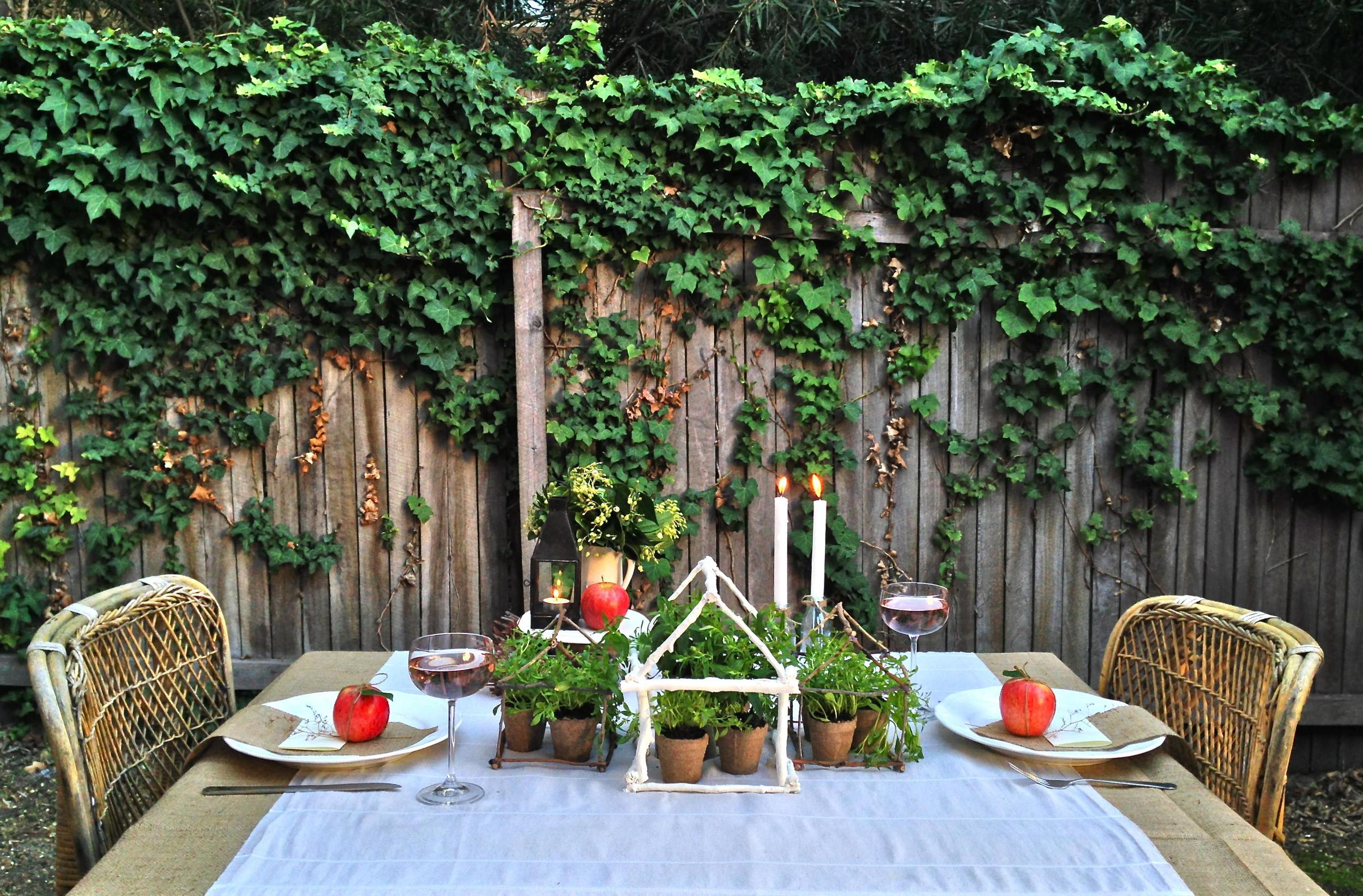 Outdoor Garden Dinner Party via Delighted Magazine