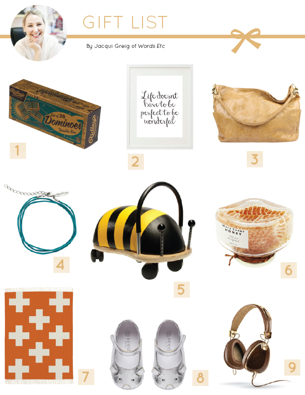 Delighted Mag: Words Etc Gift List