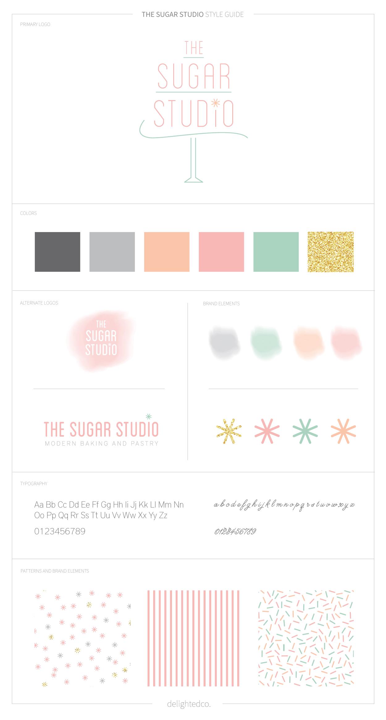 The Sugar Studio Brand Style Guide by DelightedCo.