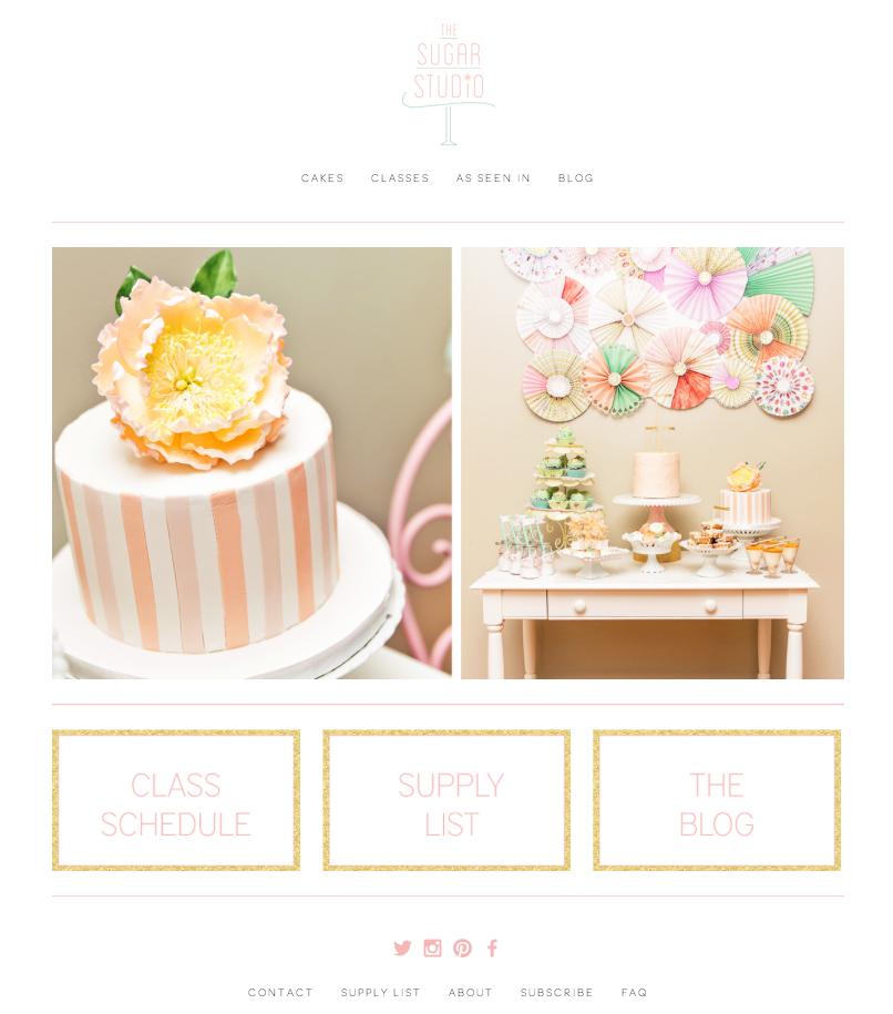 The  Sugar Studio Web Design by DelightedCo.