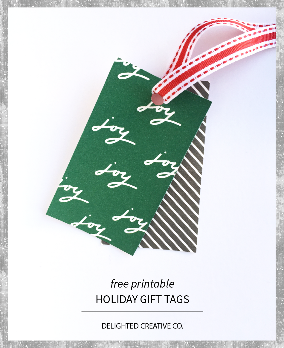 Delighted Creative Co. | Free Printable Holiday Gift Tags