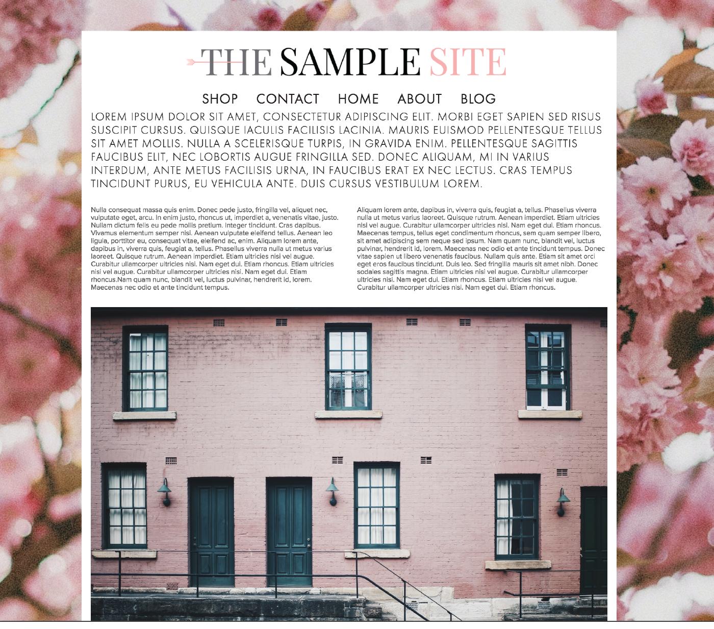 Images via Unsplash: Pink Building     Pink Florals