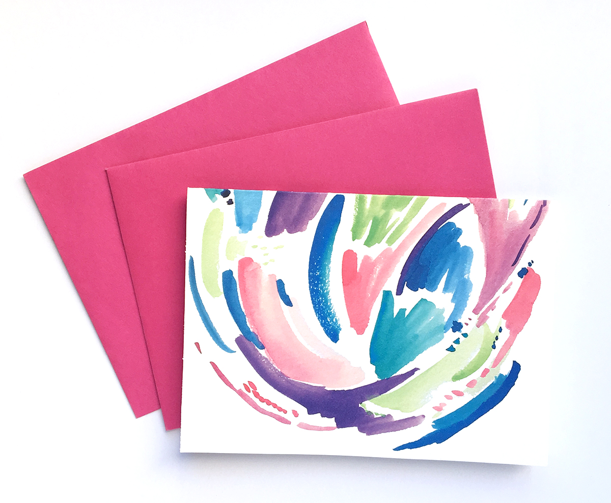 Free Download: Watercolor Note Card • delightedco.com