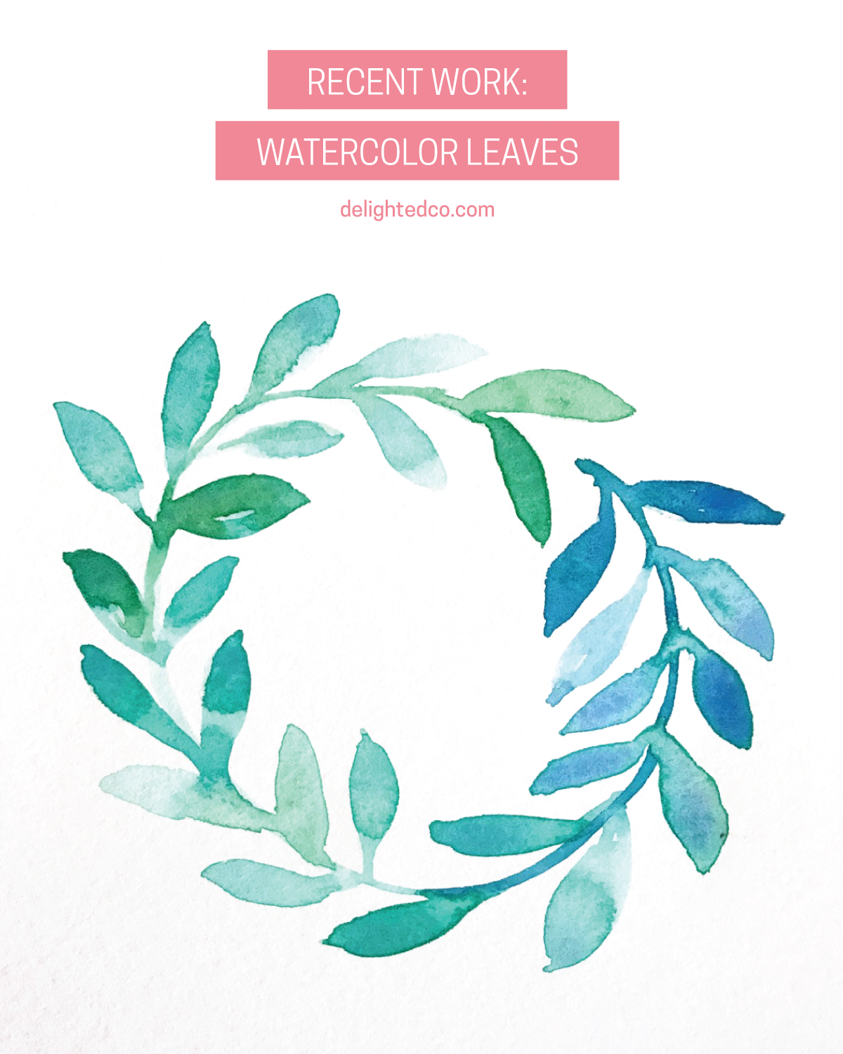 Learning to paint leaves with watercolor | Amanda Gomes | delightedco.com