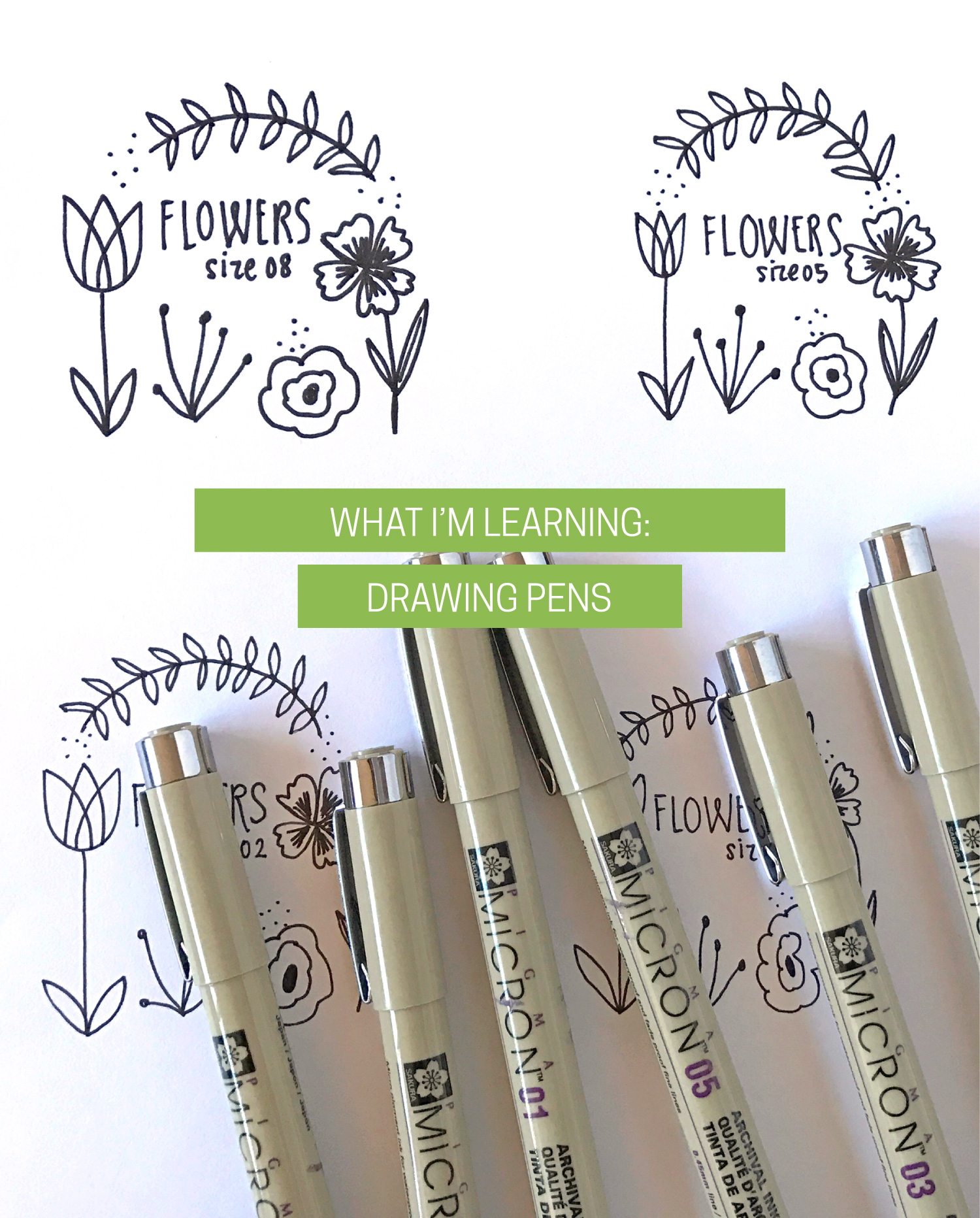 Drawing Tools: Micron Pens | Delighted Creative Co.