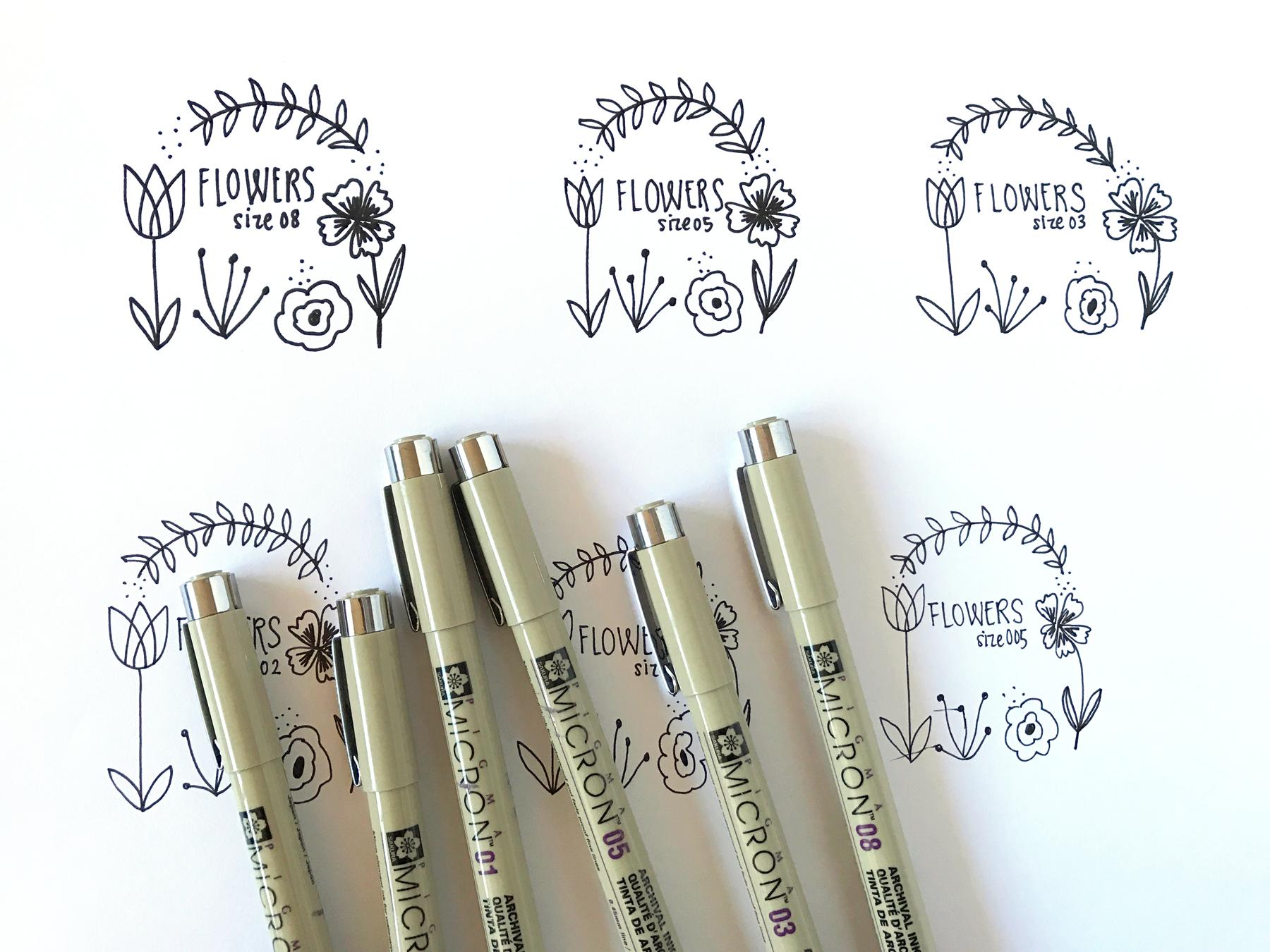 Micron Pen Comparison | Delighted Creative Co.