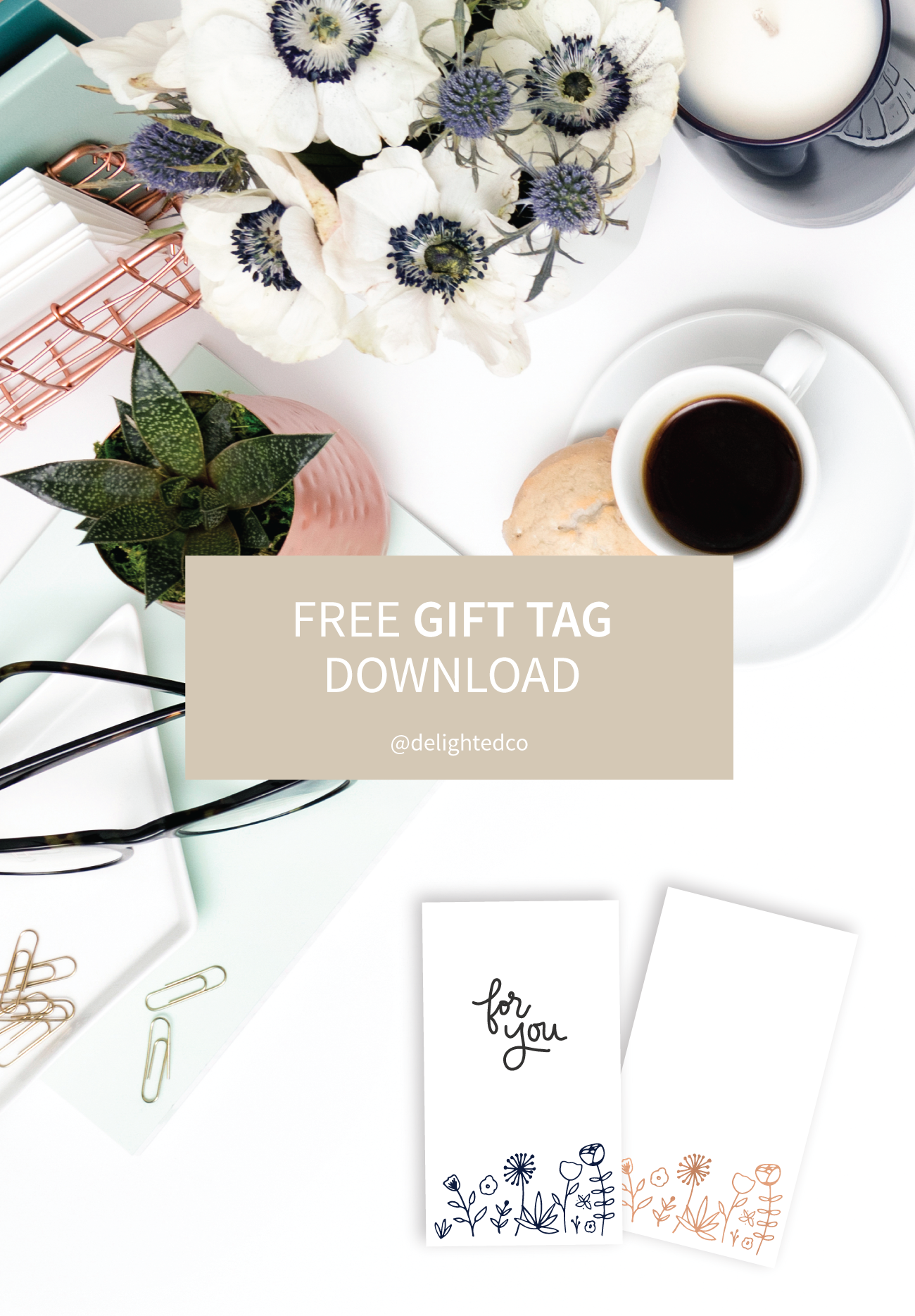 Free Download: Gift tags for any season from Delighted Creative Co.