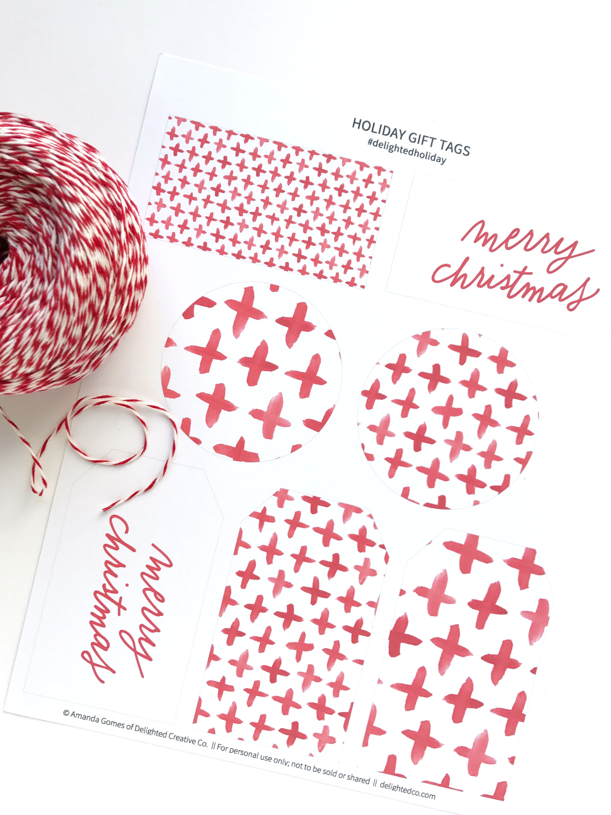 Download free holiday Christmas gift tags || delightedco.com