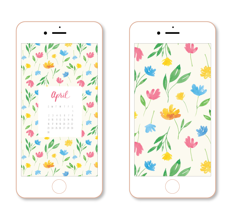 Free Watercolor Floral Tech Download by Amanda Gomes • Delighted Creative Co.