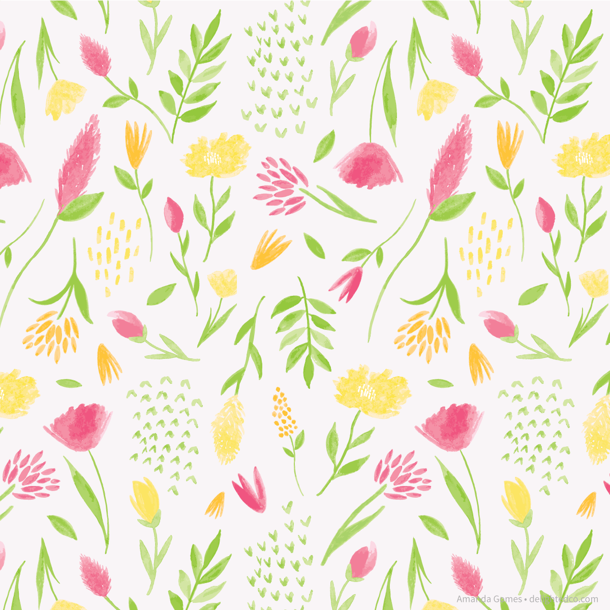 Floral Pattern by Amanda Gomes • Delighted Creative Co.