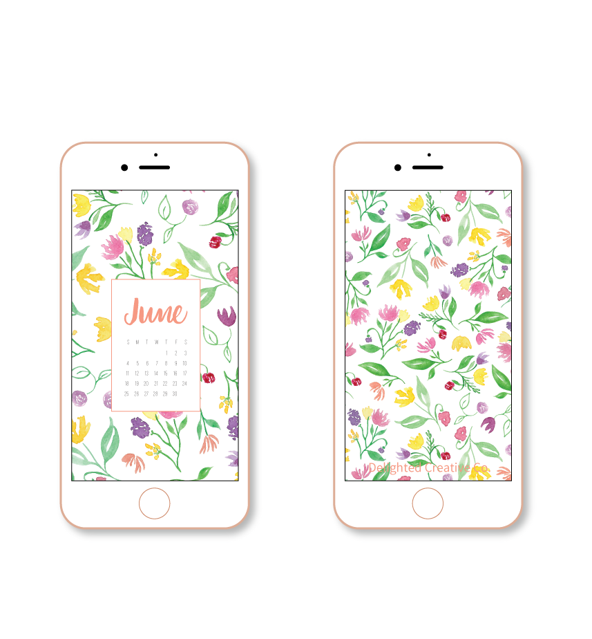 Watercolor Floral Tech Wallpaper Download from Delighted Creative Co.  | Amanda Gomes