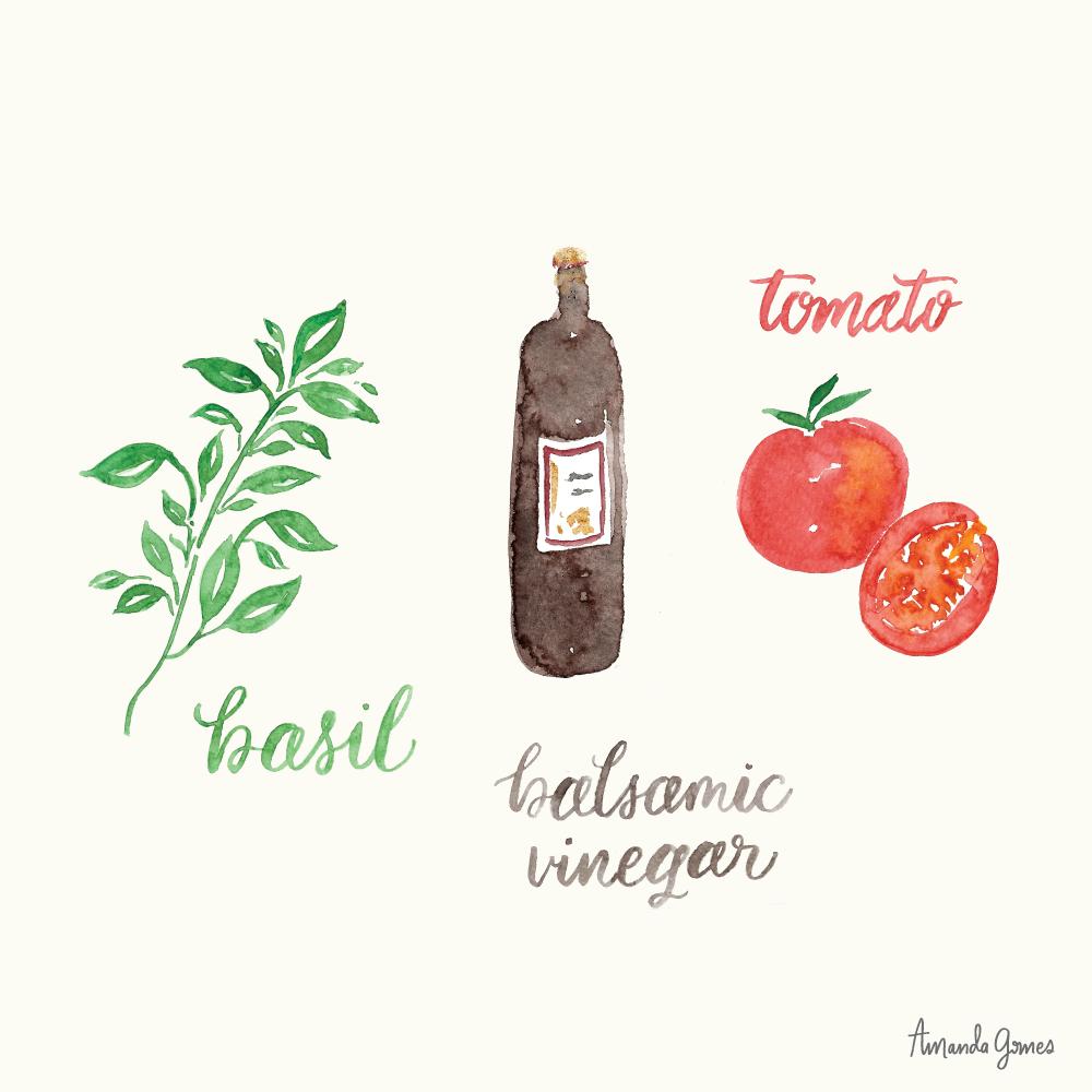 Watercolor lettering and illustration © Amanda Gomes •delightedco.com