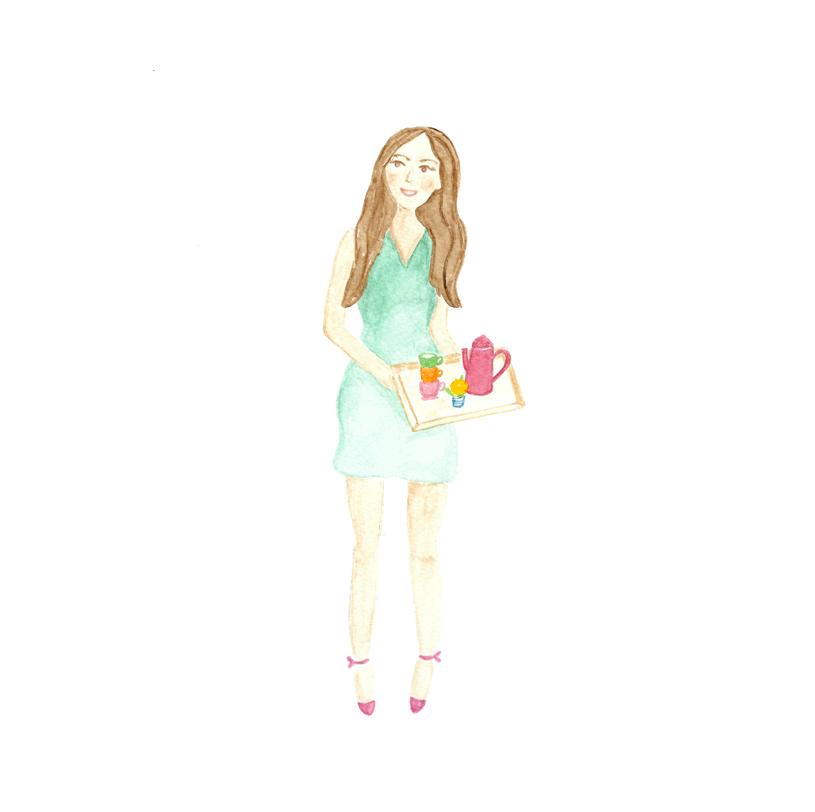 Coffee Lady Illustration • ©Amanda Gomes • delightedco.com