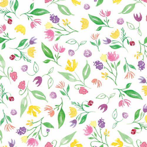 Happy Floral Pattern ©Amanda Gomes • delightedco.com