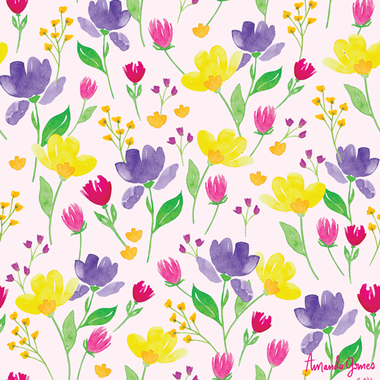Florals • Surface Pattern ©Amanda Gomes • delightedco.com