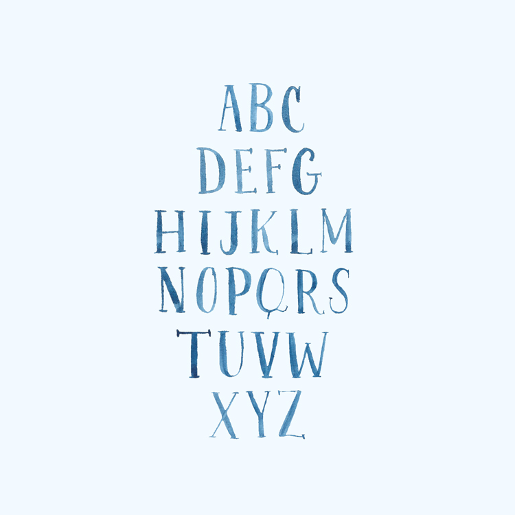 Amanda Gomes Lettering • Watercolor Serif ABC's