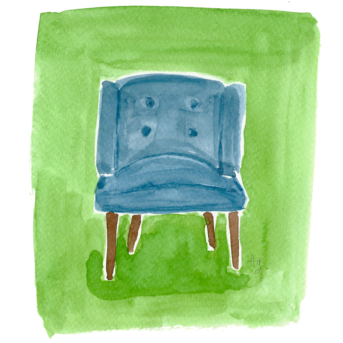 Chair Illustration ©Amanda Gomes • delightedco.com