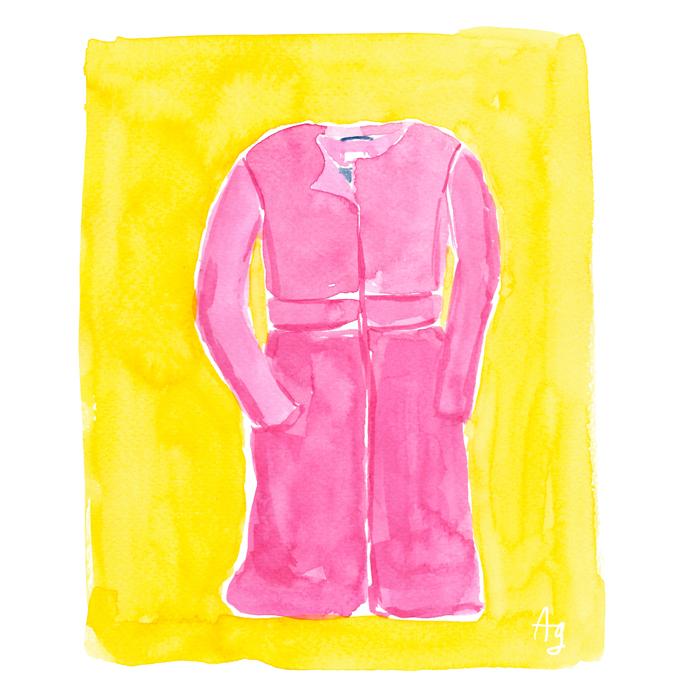 Pink Coat Illustration ©Amanda Gomes • delightedco.com
