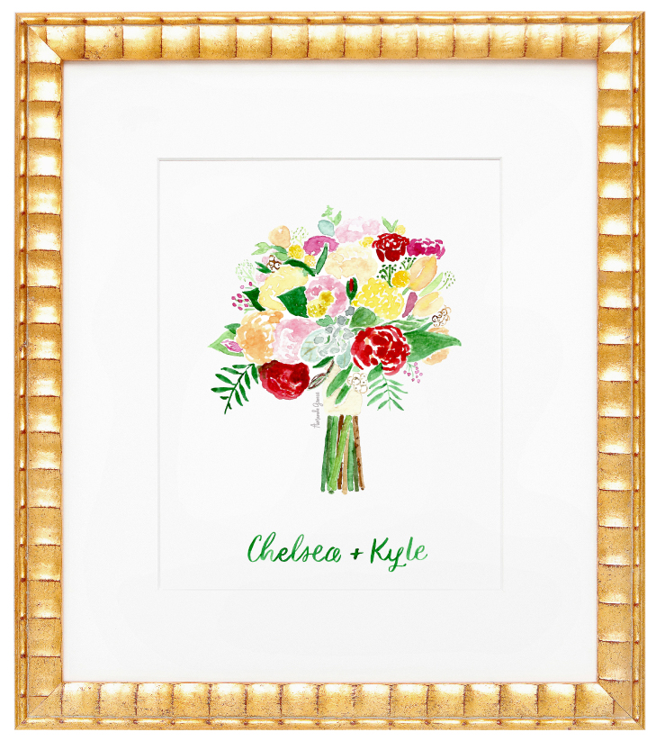 Amanda Gomes Watercolor Bouquet Illustration