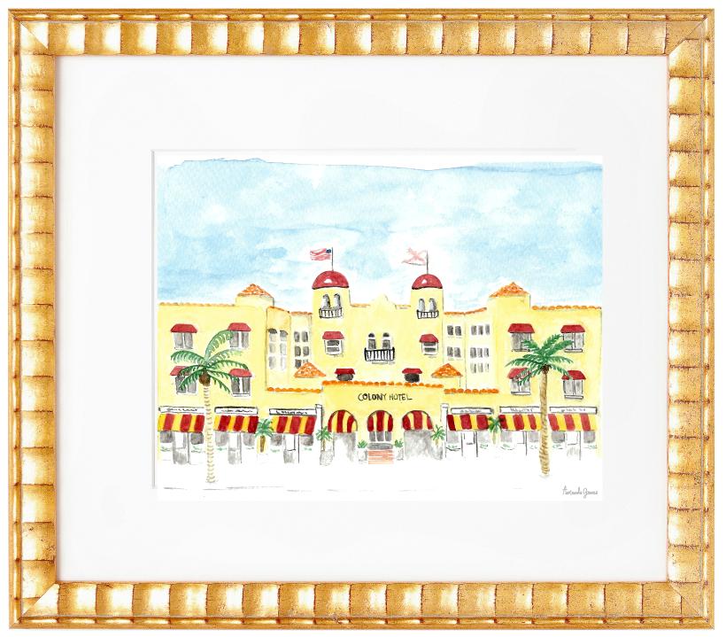 Amanda Gomes Illustration •Custom Watercolor Wedding Venue Painting