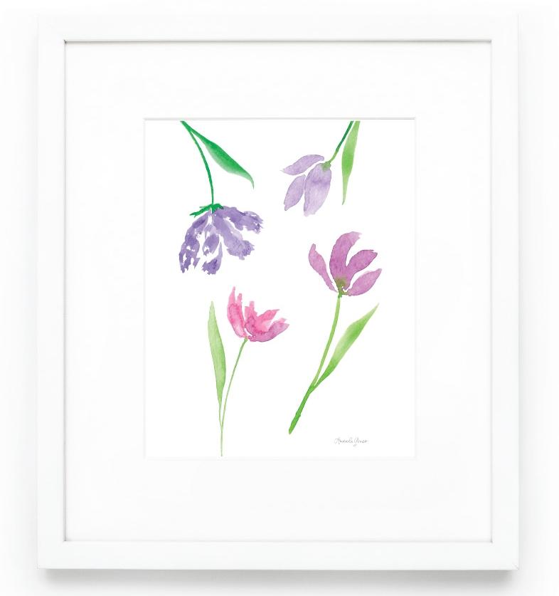 Amanda Gomes Watercolor Tulip Art Print