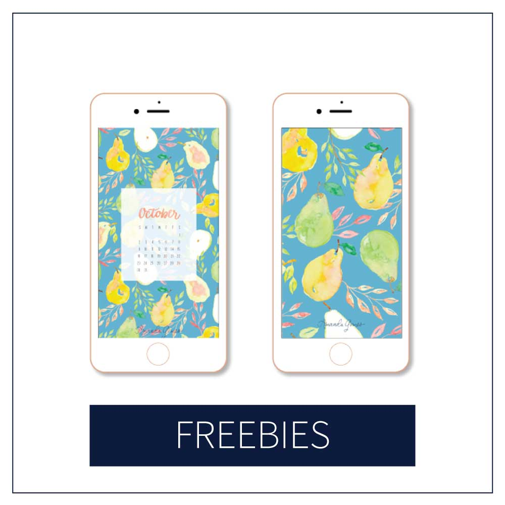 Join the Amanda Gomes Design Library for monthly downloadable freebies including tech wallpaper and art prints