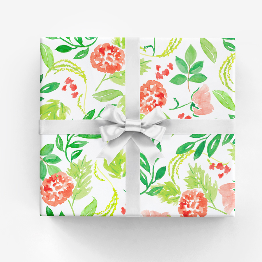 Holiday—or Everyday—Watercolor Floral Gift Wrap by Amanda Gomes • amandagomes.com