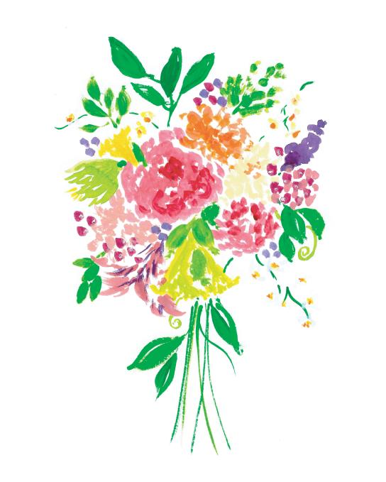 Amanda Gomes Watercolor and Gouache Floral Bouquet Illustration • amandagomes.com