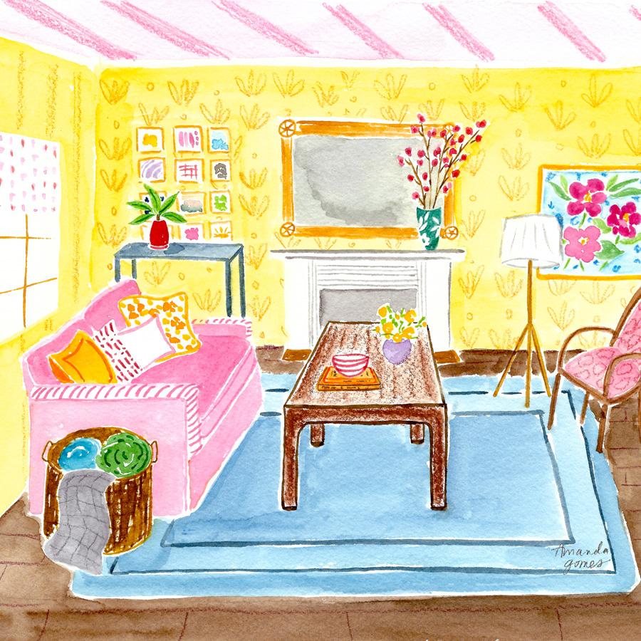 Amanda Gomes Watercolor Illustration • Interior Painting • amandagomes.com