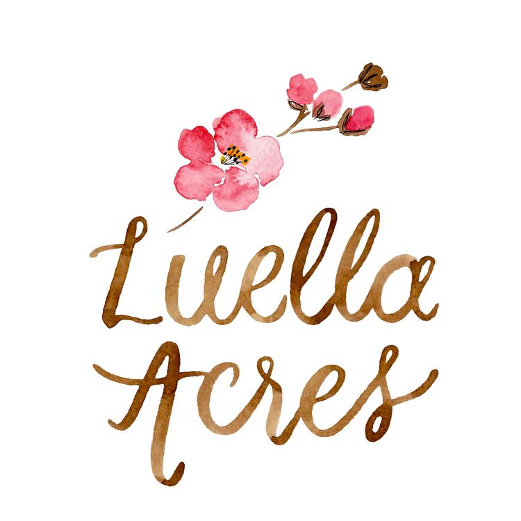Luella Acres Watercolor Logo • Designed by Amanda Gomes