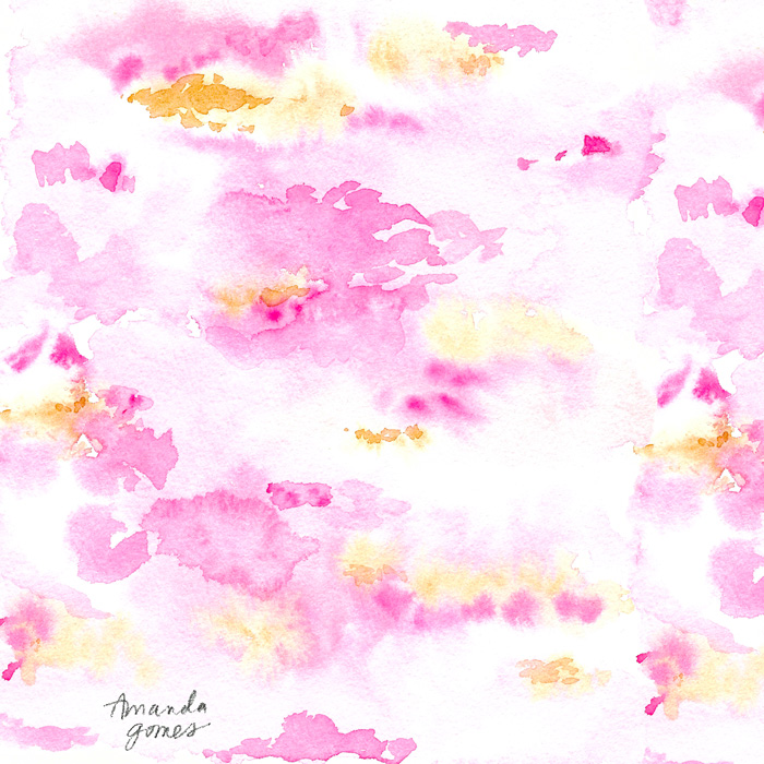Amanda Gomes Abstract Watercolor Pattern