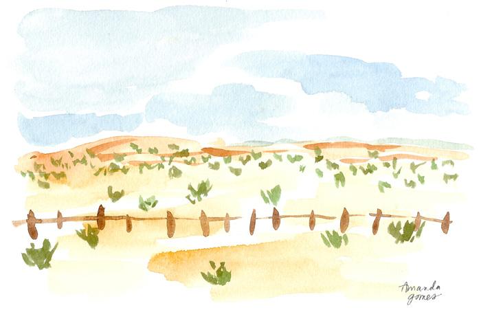 Amanda Gomes Watercolor Landscape Painting • amandagomes.com
