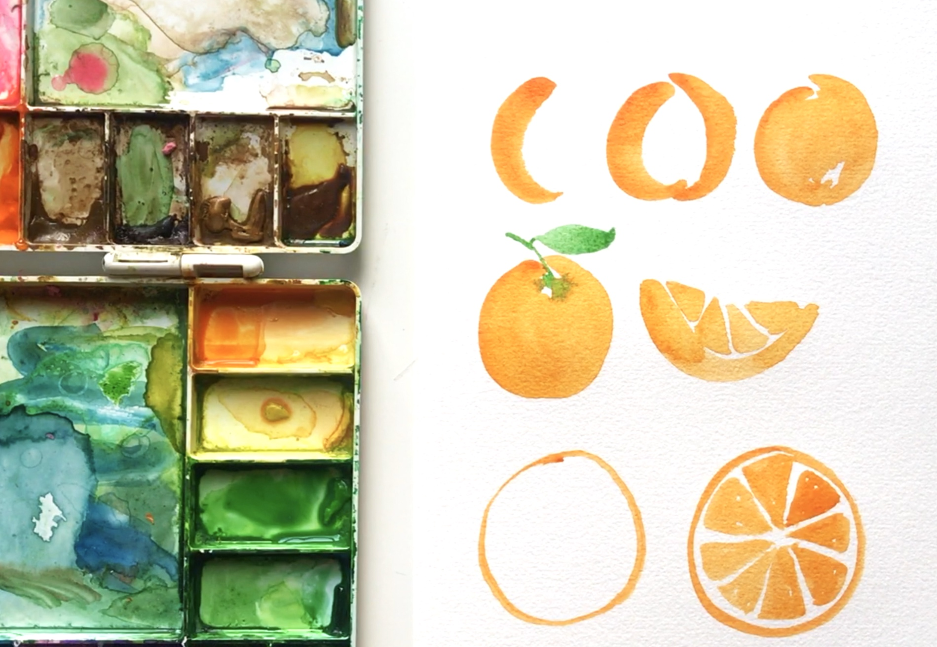Amanda Gomes Watercolor Tutorial • Orange Illustration Video