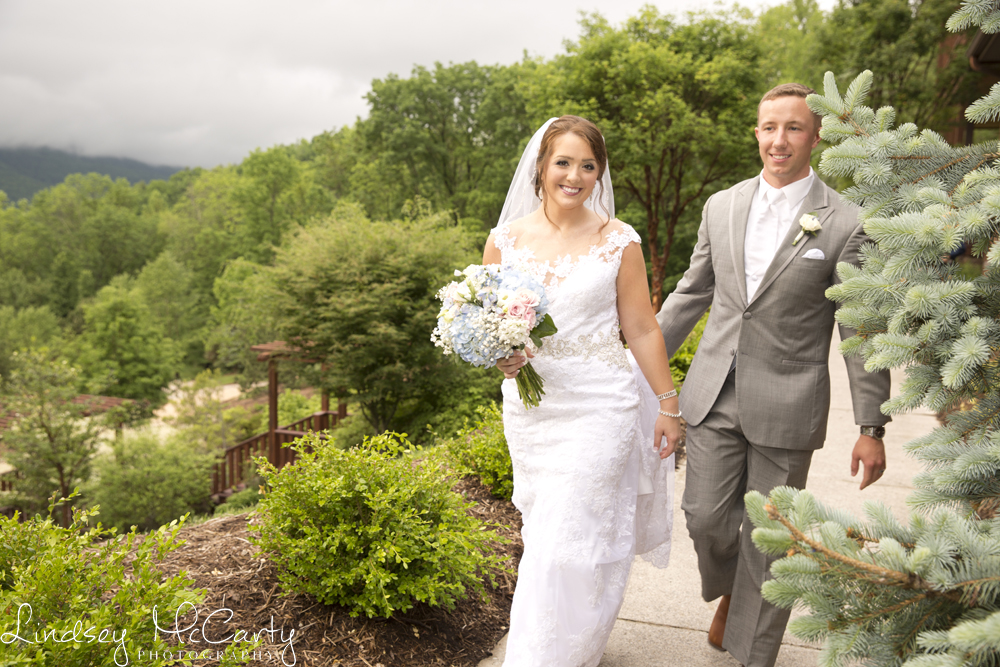 You can't tell by looking but the entire day was rainy before clearing up just before this wedding at House Mountain Inn near Lexington, VA. This is a great example of the interesting low clouds that settle near Virginia's mountains on rainy days!