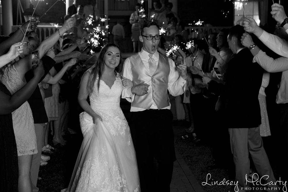 Lindsey McCarty Photography | Roanoke, VA Area Wedding Photography | Avenel Wedding | Bedford, VA Wedding | Sparkler Exit
