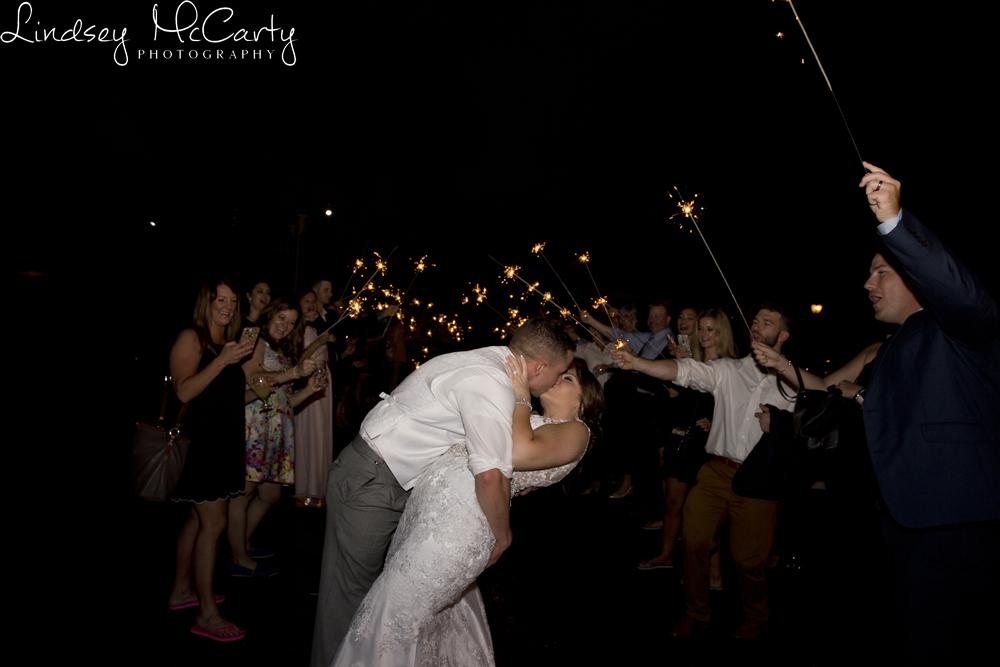 Lindsey McCarty Photography | Roanoke, VA Area Wedding Photography | House Mountain Inn Wedding | Lexington, VA Wedding | Sparkler Exit