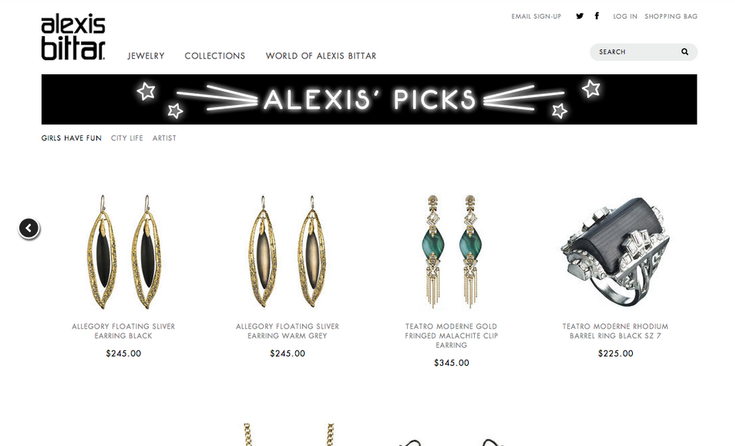 PRODUCT GRID BANNER:  ALEXIS BITTAR