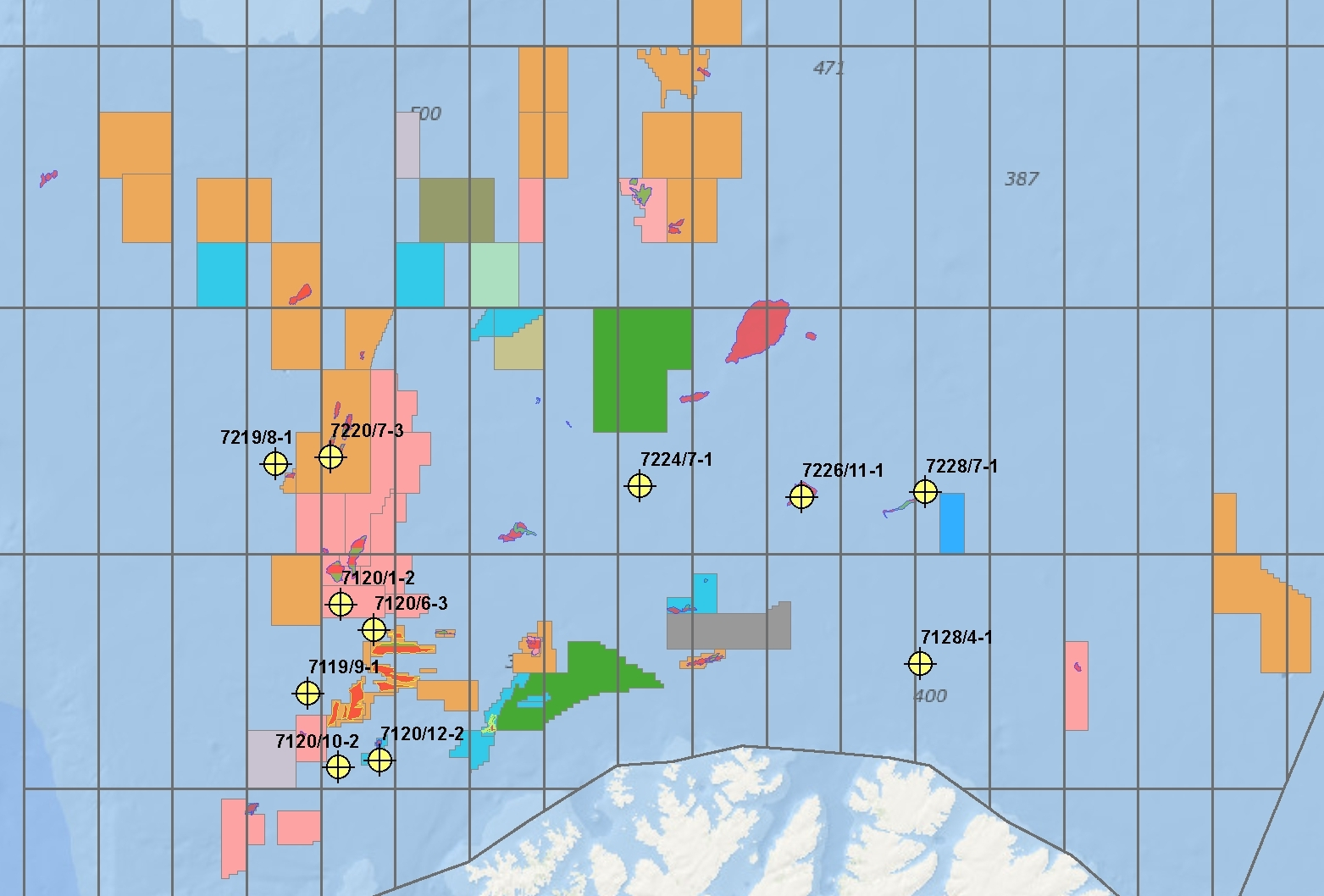 11 Barents Sea wells