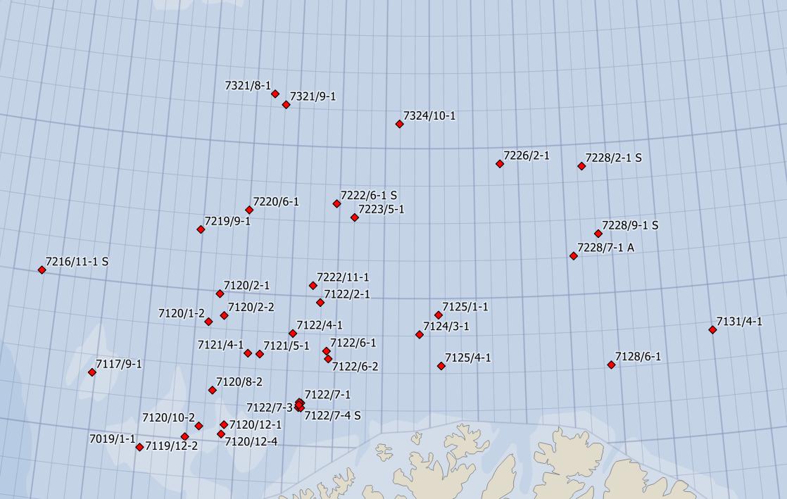 39 Barents Sea wells