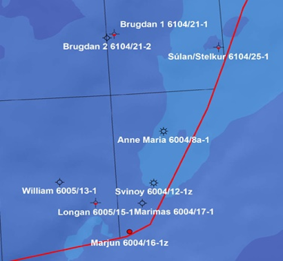 9 study wells with sidetracks in Faroes Islands waters