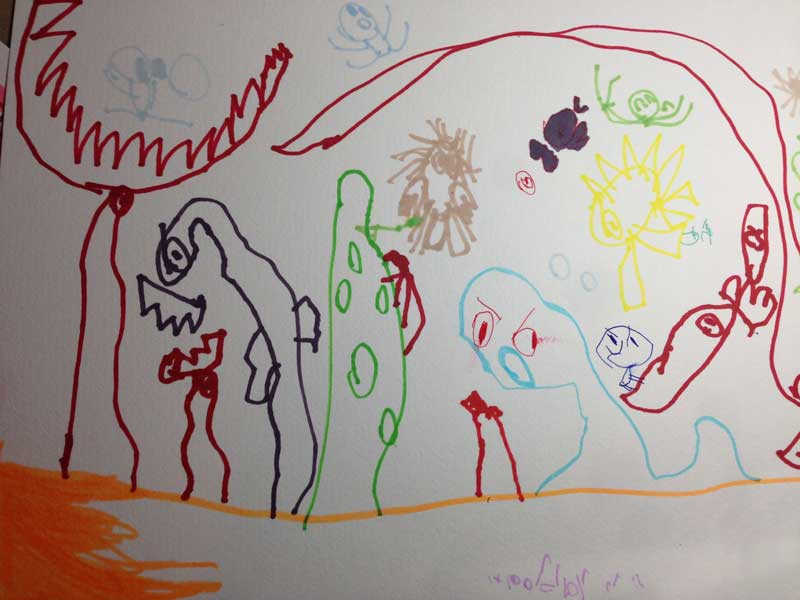 The Ocean of Bad Creatures  | by Jack, age 6.