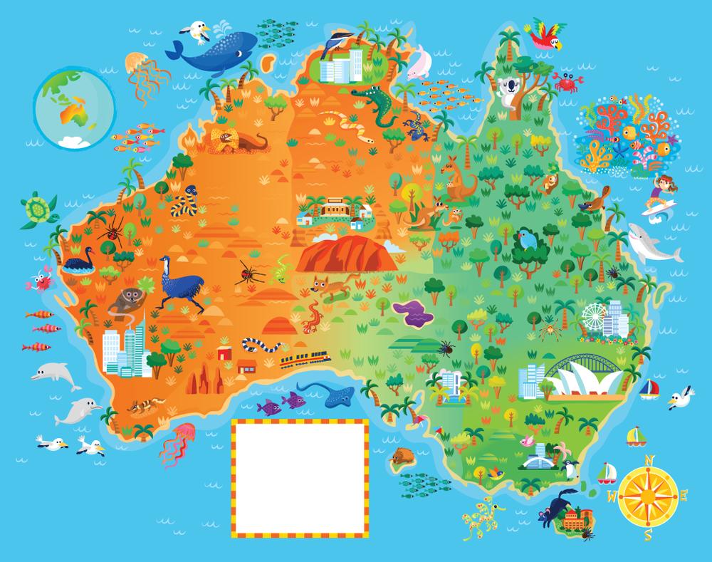 Australia Illustrated Map — Jana Curll Illustration