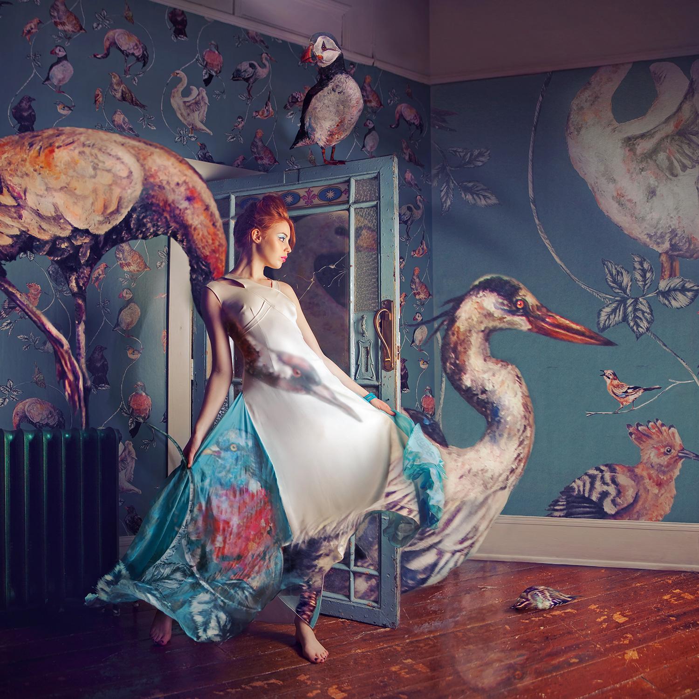MIGRATION SEASON (2012) Model: Katie Johnson / Dress: Queen of the Wild / Stylist: StyleCreative / Make-up: Grace Gray / Hair: Kaylee Yasmin
