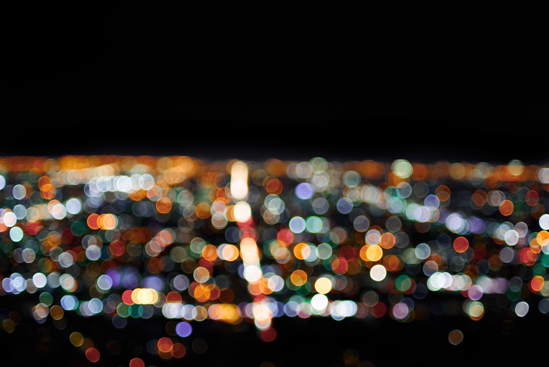 Darren Stone; blurred car lights Los Angeles  www.krop.com/darrenstone