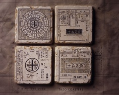 Brands truly elevate the art of merchandise in a relevant, interesting way:Tazo Tea's Coasters