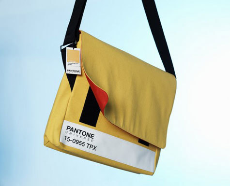 Some brands that truly elevate the art of merchandise in a relevant, interesting way: Pantone's smart messenger bags.