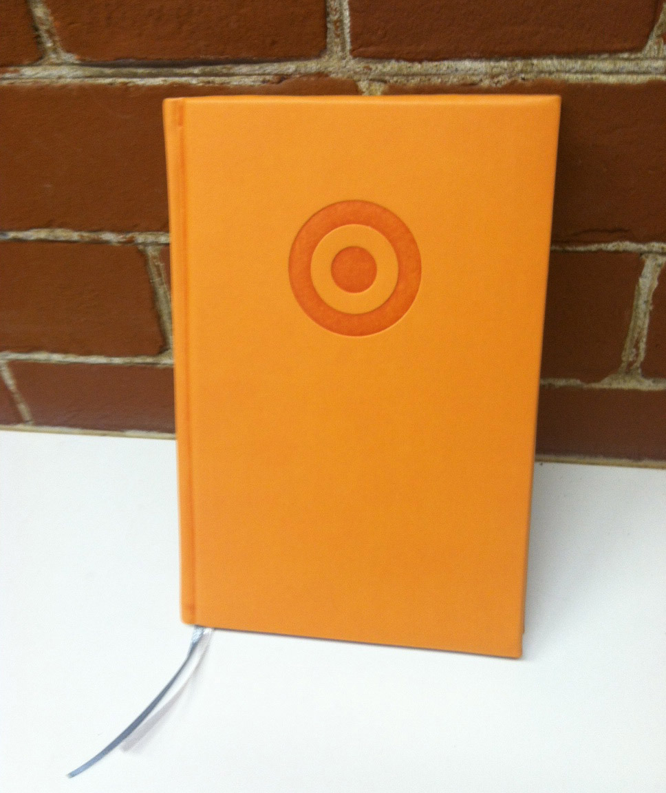 Some brands that truly elevate the art of merchandise in a relevant, interesting way: a branded journal from Target one might actually use.