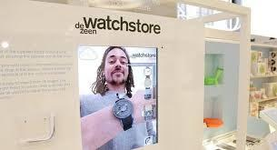 Design brand Dezeen hosted an  augmented reality experience for its online watch  store at London department store and most recently at SXSW in Austin. By putting on a paper wristband and placing it in front of a camera, shoppers were able to see their wrist on a screen 'wearing' a watch and try on as many different colors and models they desired.