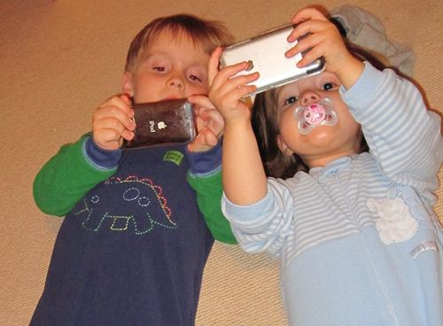 Today, our increasing, over-dependence on technology begins at a very young age.   Image Courtesy: growingagreenfamily.com